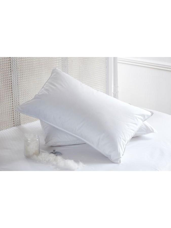 Възглавница Poohy Premium Soft Pillow, 90% Нов бял френски патешки пух, Ниска